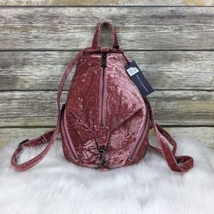 Rebecca Minkoff Julian Soft Pink Velvet Backpack